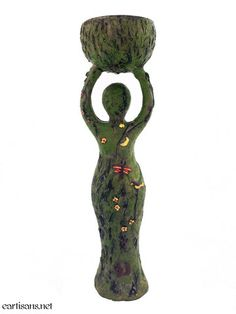 Earth Goddess Tealight Statuary. New at Eclectic Artisans. Get yours today! Click the image