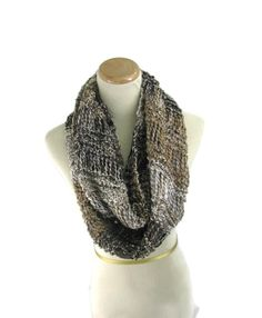 Knit Circle Scarf Infinity Scarf Knit Scarf by ArlenesBoutique