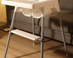 Podnóżek do krzesełka Ikea Antilop Antilop High Chair, Ikea High Chair, Footrest, Teak, Bar Stools, Kids Room, Ikea Hacks, Pregnancy, Daddy