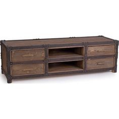 Rustic Industrial 4 Drawer TV Console - NC Rustic