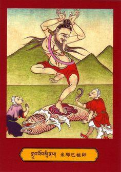 Mahasiddha Menapa..........Mīnapa  Vajrapāda  Acinta (nya bo pa) The One Swallowed by a Fish