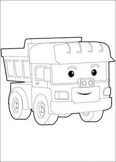 Dibujos para Colorear Robocar Poly 6