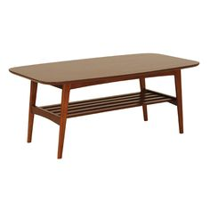 Griffith Dark Brown Mid-Century Modern Coffee Table   Overstock.com Shopping - The Best Deals on Coffee, Sofa & End Tables