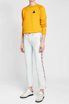 ISABEL MARANT ÉTOILE - Makati Cotton Sweatshirt | STYLEBOP Yellow Fashion, Makati, Isabel Marant, White Jeans, Yellow Style, Sweatpants, Sweatshirts, Cotton, Shopping
