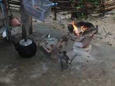 This is how they are cooking teire food in the village.  This is a village about 170 km outside of chiang mai