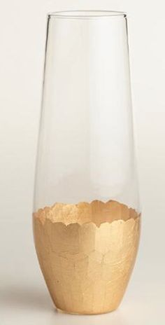 Stemless gold champagne glasses