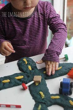 Play Dough Construction Site Small World Play - The Imagination Tree