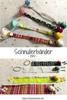 Sew pacifier strap yourself - I'll show you how!- Pacifier straps for sewing yourself. So that will finally end. Sewing Hacks, Sewing Tutorials, Sewing Patterns, Sewing Tips, Sewing Dress, Diy Bebe, Blog Couture, Sewing Projects For Beginners, Baby Diy Projects