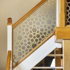 Staircase Renovation: Staircase Refurbishment - Laser Cut Balustrade Infill Tv Unit Furniture Design, Laser Cut Screens, New Staircase, Glass Balustrade, Laser Cutting, Kitchen Design, New Homes, Quote Template, Refurbishment
