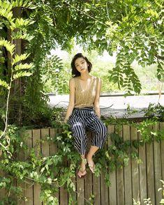 Kim Da Mi (김다미) Aesthetic Beauty, Girl Photography Poses, Korean Celebrities, Korean Actresses, Asian Beauty, Short Hair Styles, Kimono, Sexy, Pretty