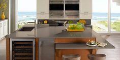 Corian® Deep Mink kitchen, from the Corian® US Deep Collection.