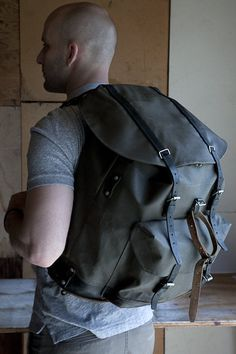 Vintage swiss military backpack // vintage backpack // salt and ...