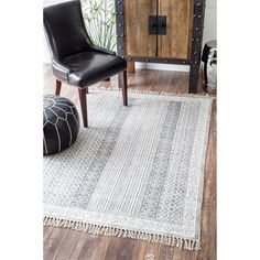 nuLOOM Grey Handmade Flatweave Stiped Diamond Border Cotton Fringe Area Rug (Grey - x Grey Rugs, Beige Area Rugs, All Modern, Modern Decor, Affordable Rugs, Rugs Usa, Handmade Home Decor, Online Home Decor Stores, Home Decor Outlet