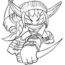 Stealth Elf Coloring Page Coloring Page Super Heroes Coloring