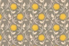 Grey and yellow fabric; can somehow frame and pin for a wall decoration