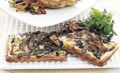 Wild Mushroom and Gruyère Tart with Fresh Herb Salad / Mark Thomas