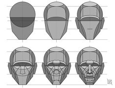 """Drawing Techniques anatoref: """" Head Drawing Tutorial (Based on Steve Houston's Method) Top Image Row 4 Drawing Lessons, Life Drawing, Drawing Techniques, Figure Drawing, Drawing Tips, Head Anatomy, Anatomy Drawing, Anatomy Art, Human Face Drawing"""
