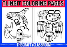 Tlingit Crafts for Kids Crafts, Activities, Books, Ideas and Resources for ideas for enhancing your lessons on the Tlingit tribes of the North West. These are great for children of all ages and you'll find recommended reading to pair alongside each themed Native American Heritage Month, Native American Totem, Native American Crafts, Indigenous Education, Aboriginal Education, Indigenous Art, Totem Pole Craft, Touching Spirit Bear, Art For Kids