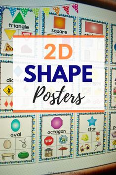 Introduce and reinforce shape posters with these beautiful math posters. These posters will serve as an excellent reference for students throughout the school year. Teacher Bulletin Boards, Bulletin Board Display, Shape Anchor Chart, Anchor Charts, Math Math, Kindergarten Math, Shape Posters, Math Poster, Triangle Square