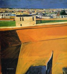 Diebenkorn's landscapes are a beautiful bridge between abstract field paintings and traditional representational art. Description from muddycolors.blogspot.co.uk. I searched for this on bing.com/images