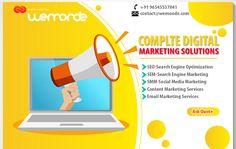 Landing page template Free Vector Marketing Digital, Email Marketing Services, Marketing Budget, Social Media Marketing, Content Marketing, Website Development Company, App Development, Banners, Creation Site