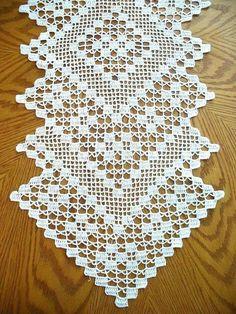 Co/Free-Crochet-Table-Runner-Patterns/ - Diy Crafts Crochet Table Runner Pattern, Crochet Tablecloth, Crochet Doilies, Doily Patterns, Crochet Patterns, Crochet Freetress, Lace Tape, Craft Free, Filet Crochet
