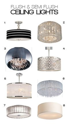 Flush (and Semi-Flush) Ceiling Lights  $30-400