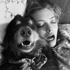 Amanda Seyfried and her dog, Finn