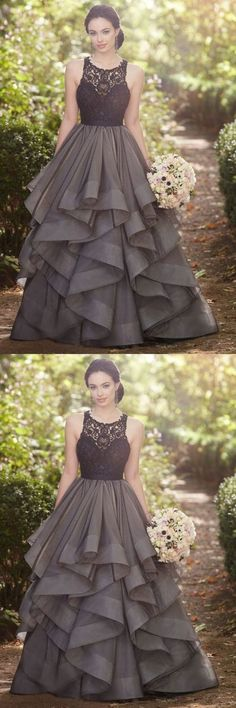 Custom Made Black tulle lace A-line long dress,prom dress for graduation