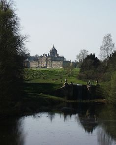 """Castle Howard, Yorkshire - home of Georgiana's daughter """"Little G"""" and her husband, the Earl of Carlisle. Yorkshire England, England Uk, North Yorkshire, Beautiful Buildings, Beautiful Places, Beautiful Pictures, Arundel Castle, Castle Howard, English Countryside"""