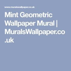 Mint Geometric Wallpaper Mural | MuralsWallpaper.co.uk
