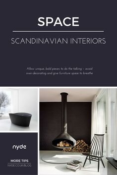 Scandinavian interiors put a huge emphasis on efficient use of space. Use unique, bold pieces and give furniture space to breathe – there's no need to over-decorate. Read the full post here: https://nyde.co.uk/blog/scandinavian-interiors-ideas/?utm_source=Pinterest&utm_medium=Social&utm_campaign=Scandinavian%20Interiors