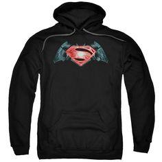 Batman v Superman Industrial Logo Hoodie