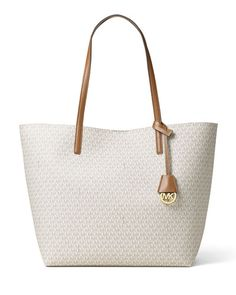 57ec1f9a436b V337X MICHAEL Michael Kors Hayley Large East-West Logo-Print Tote Bag