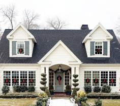 Drove by this pretty house today...I'm certain it belongs on a Christmas card. #studiomcgeeneighbors @studiomcgee