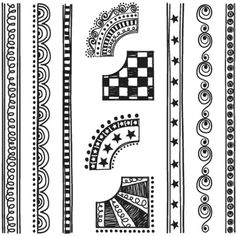 Sassafras Lass - Nesters Clear Stamp Sets - Doodled Borders, CLEARANCE                                                                                                                                                                                 More