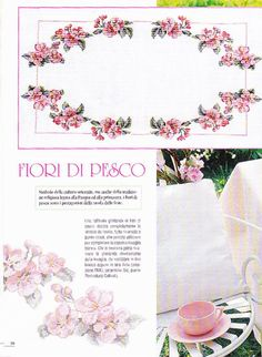 Gallery.ru / Фото #28 - Appassionate di Punto Croce  Anno 3 2004 - simplehard / 1/4 Cross Stitch Flowers, Cherry Blossom, Needlepoint, Needlework, Place Card Holders, 3, Embroidery, Inspiration, Tutorials