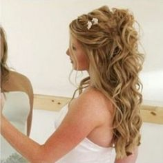 Half-up curly hairstyle