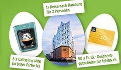 Gewinne mit dem #Tchibo Ostergewinnspiel eine Reise nach #Hamburg für zwei Personen im Wert von CHF 1'800.- , 6×1 #Cafissimo MINI Kaffeemaschine und 10 mal einen Tchibo Gutschein.  https://www.alle-schweizer-wettbewerbe.ch/gewinne-hamburg-reise-und-tchibo-gutscheine/