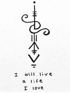 """power-of-three: """"""""I will live a life I love"""" sigil for anonymous Sigil requests are open! -Mod Pyre """" power-of-three: """"""""I will live a life I love"""" sigil for anonymous Sigil requests are open! Future Tattoos, New Tattoos, Body Art Tattoos, Small Tattoos, Tatoos, Small Tattoo Symbols, Sleeve Tattoos, Wiccan Symbols, Magic Symbols"""