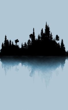 """Love this wallpaper, Trace,  from Trove- a """"skyline"""" of the northwoods created with a mix of digital photography and drawing..  #Troverocks #northwoods"""