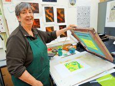 June on Annee's monoprinting course at Ochre Print Studio
