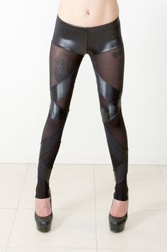 Straps Sheer Leggings › Black Milk Clothing