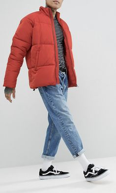 de8616717d8 On my wish list   ASOS Puffer Jacket in Red from ASOS  ad  men  fashion   shopping  outfit  inspiration  style  streetstyle  fall  winter  spring   summer ...
