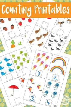 Counting Printables - oh fun! These free printable worksheets are perfect for toddlers and preschoolers learning counting and numbers. Great ideas from Kids Activities Blog.