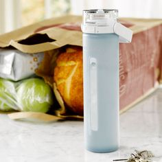 Starbucks glass bottle. Healthiest alternative to stainless steels and plastic sports water bottles : )