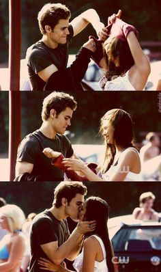 stelena, love, and kiss image