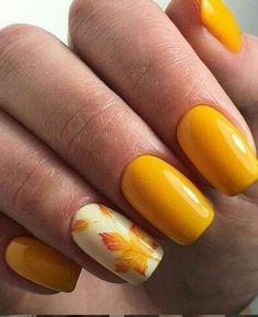 Yellow Nails For Fall Nail Art By Beautybigbang - Nailpolis . Yellow Nails For Fall Nail Art By Be Nail Art Design Gallery, Best Nail Art Designs, Short Nail Designs, Fall Nail Designs, Acrylic Nail Designs, Acrylic Nails, Coffin Nails, Acrylics, Autumn Nails