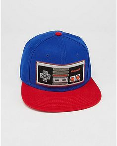 bffab2f629d Embroidered Nintendo Controller Snapback Hat - Spencer s