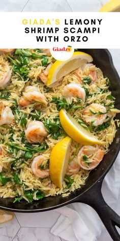 This is one of those great dinners that you can whip up easily on any weeknight, but it's still an impressive enough dinner that you could absolutely serve to company. It's a simple, delicious shrimp scampi that's all tied together with a lemony vinaigrette mixed in at the end.